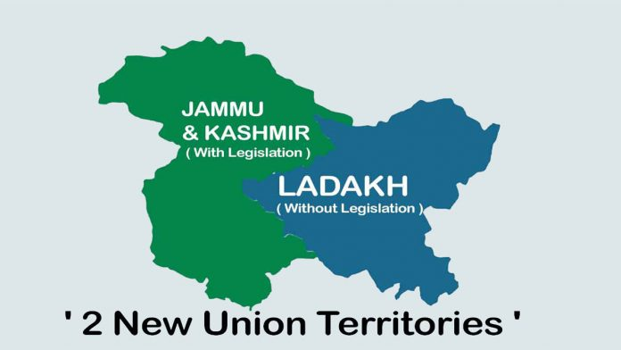 J&K are divided into two Union Territories