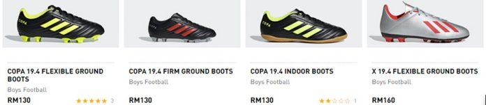 adidas football boots malaysia
