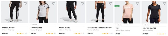 adidas women wear collection