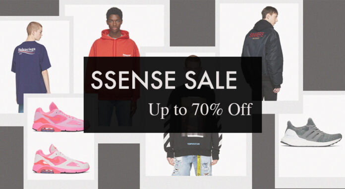 ssense sale up to 70% off
